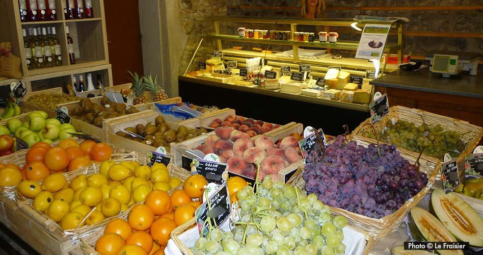 Les fruits et le rayon fromage du Fraisier à Toulouges pour le-petit-pois.fr